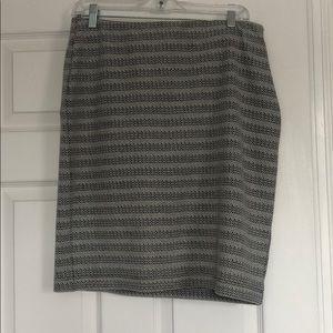Loft black and white skirt